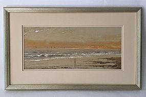 Sailboats at Sunset Edmund Darch Lewis 1886