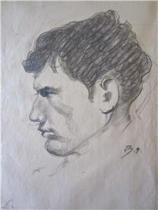Balthus Original Drawing Portrait of a Man Provenance