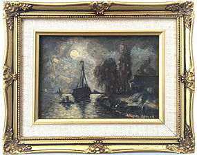 Sail Boat by Moonlight Michael Dancer
