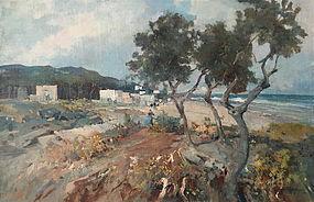 Italian coastal village Luigi Bertolingrande