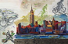 New York Skyline modernist painting Tom Christopher