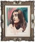 Portrait of a Woman Emil Kosa Jr. California artist