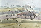 English watercolor Landscape by Franklin White