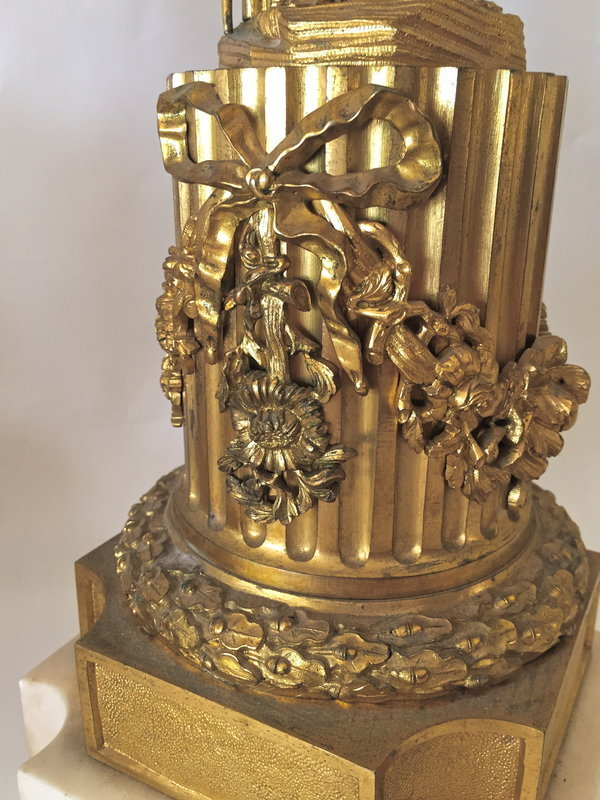 Antique French gilt bronze candelabra c.1860