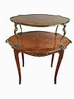 Antique French Louis xv pastry table inlay cherub ormolu