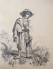 French old Master drawing of a Shepherd