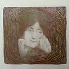 Symbolist Portrait Woman Edmond Aman Jean 1896