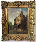 Country Inn Antique oil painting G. Summers