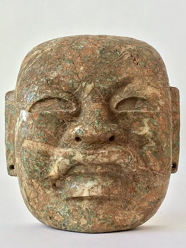 Olmec Jade Mask Pre Columbian Mexico Ancient Art