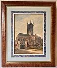 English Church Watercolor Herman Axel Haig 1866