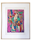 Abstract Serigraph Andre Lanskoy artist signed.