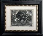 Woodblock Engraving by Harold C Davies California Art Walnut Creek