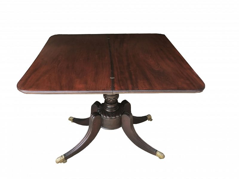 American Mahogany Game Table Duncan Phyfe c. 1830