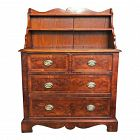 Antique 19th C. English Georgian Chest of Drawers w/ Shelves
