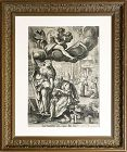 "16th Century Dutch Old Master Engraving ""Saturn"" by Adriaen Collaert"