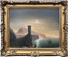 Vintage Russian Luminist Seascape Oil Painting