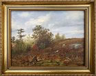Antique Oil Painting Fall Landscape Painting
