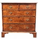 Antique English Burl Walnut Chest of Drawers C.1830