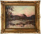Vintage Oil Painting Impressionist Landscape by Charles De Koster