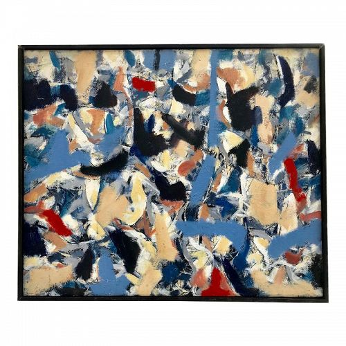 Modernist Abstract Oil Painting on Canvas by Ken Stabler