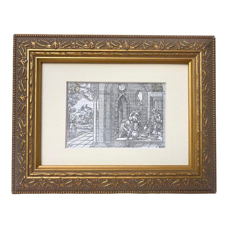 Old Master 16th Century Woodcut Engraving Print by Virgil Solis C.1550