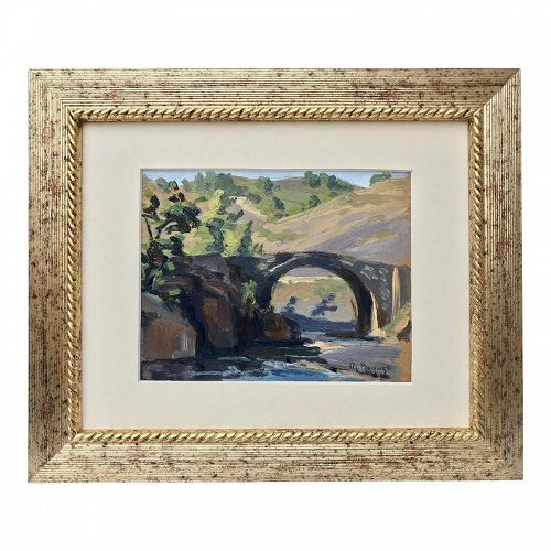 Vintage French Impressionist Oil Painting M. Jacques 1937