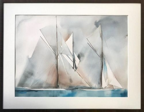 Modernist Yacht Sailing Races by Willard Bond