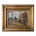 Impressionist Oil Painting New York Fall Landscape Thomas De Laurier