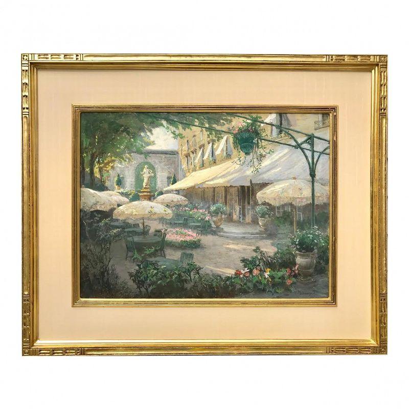 Spanish Courtyard Pastel Painting by Albert Sheldon Pennoyer
