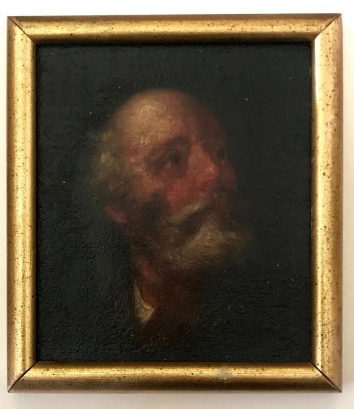 Antique Miniature 17th Century Old Master Painting Portrait of a Man