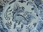 Ming Dynasty Porcelain Bowl or charger horse dragon