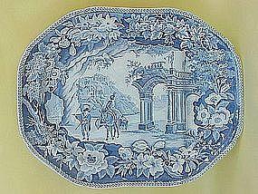 Staffordshire Transferware senic  platter c.1825 Clews