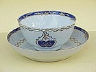 Chinese export Tea Cup and saucer bowl c.1790