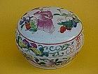 Chinese export Famille rose porcelain jar