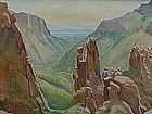 J.H. Macpherson Southwest impressionist landscape oil