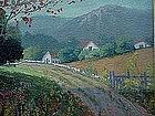Frank Giardin American impressionist landscape oil