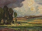 French Impressionist landscape Rene Ovyn oil
