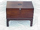 British Campaign chest writing desk c.1850