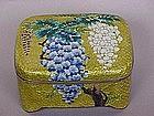 Japanese Cloisonne Ginbari box blossoms gold foil