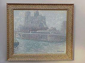 Renaldo Cuneo Impressionist view Notre Dame Paris