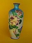 Japanese Ginbari Cloisonne Vase Floral