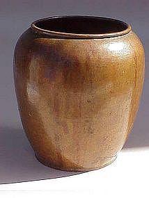 Dirk Van Erp hammered copper vase c. 1910 fine cond.