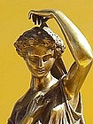 Classical Bronze statue Grecian woman Victor Evrard