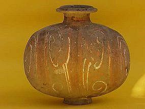 Han Dynasty Pottery Cocoon Jar 206 BC-220 AD
