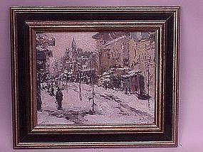 Fredrick Wagner Pennsylvania impressionist winter view