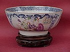 Chinese export porcelain bowl famille rose circa 1800