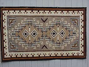 Fine Navajo Teec Nos Pos Indian rug Bessie Little Pouch