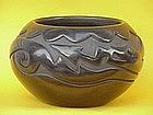 Santa Clara Pottery Bowl Joe Chevarria serpant design
