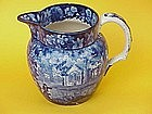Staffordshire historical transferware senic pitcher