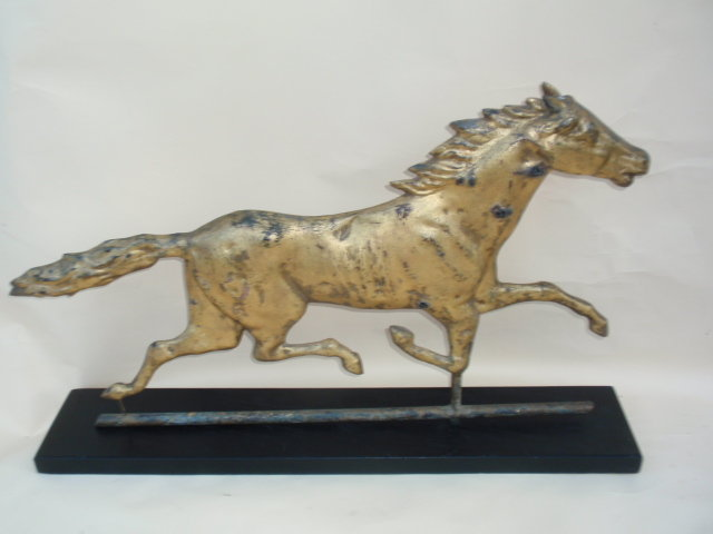 American Folk Art antique Running horse weathervane
